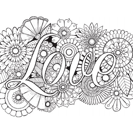 color in love - Pictures To Color In
