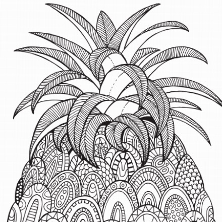 color in the pineapple - Pictures To Color In